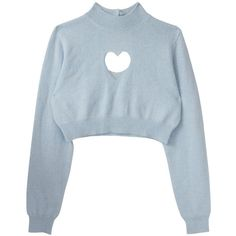 High Neck Heart Hollow Crop Blue Sweater (31 CAD) ❤ liked on Polyvore featuring tops, sweaters, shirts, crop top, blue, turtleneck sweater, blue long sleeve shirt, blue sweater, long-sleeve shirt and long-sleeve crop tops