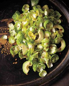 Brussels Sprout Salad with Avocado and Pumpkin Seeds Recipe