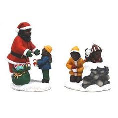 St. Nicholas Square® Village Collection Playing with Santa Set