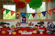 Potato Head Party - have plastic nose/glasses/lips for the kids to make themselves into Mt. Potato Heads