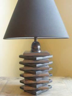 Handmade Wooden Lamp by CoastalDesignGallery on Etsy, $100.00