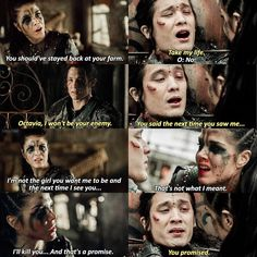 "#The100 4x10 ""Die All, Die Merrily"" -  Octavia and Ilian"
