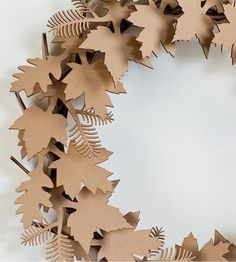 Simply snap these laser-cut cardboard pieces together and you'll have a festive wreath, ready for hangin', in no time flat. Each kit includes everything required to assemble your own leaf cardboard wreath (including the instructions). And while we like the look of the plain cardboard, it's a cinch to spruce up with glitter or other craft materials, if you like.