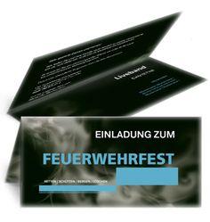 Individuell bedruckte Einladungskarten für Feuerwehren von www.onlineprintxxl.com #einladungskarte #feuerwehrfest #feuerwehrball