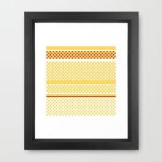 dots and stripes Framed Art Print Framed Art Prints, Dots, Stripes, Artist, Design, Decor, Decoration, Decorating, Artists