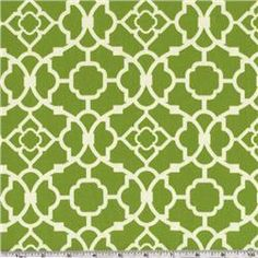 Waverly Lovely Lattice Jungle fabric for curtains in the living room.