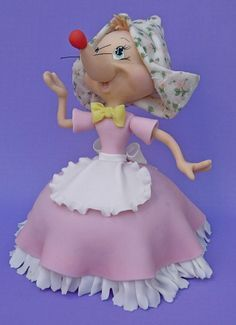 how to make a disney cinderella cake topper out of modeling paste - Google Search