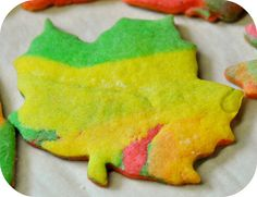 Fall leaves, cookie style