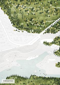 Tirana 2030: Watch How Nature and Urbanism Will Co-Exist in the Albanian Capital,A large oasis will be created around Lake Farka. Image Courtesy of Attu Studio