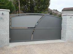 Iron Main Gate Design, Door Gate Design, Gate Designs Modern, Modern Design, Art Deco Door, Entry Gates, House Elevation, Fence, Doors