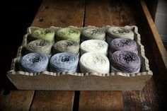 ♥ this cotton wool yarn from Holst Garn.  It's inexpensive and comes in lovely natural  colors.