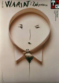 Wariat i Zakonnica - Witkacy - Stanislaw Ignacy Witkiewicz  Original Polish theater poster  designer: Tomasz Boguslawski  year: 2006  size: B1