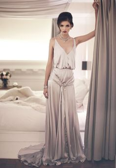 Daisy Buchanan from 'The Great Gatsby' were awesome. So lets see how to rock a gatsby glam wedding dress on your big day. The Dress, Silk Dress, Silk Skirt, Evening Dresses, Prom Dresses, Reception Dresses, Bridesmaid Dress, Afternoon Dresses, Flapper Dresses