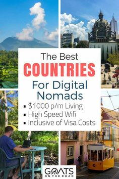 Looking for a cheap country to up your digital nomad base in? Here's 15 travel destinations all over he world where you can travel on a budget & live for less than $1000 per month. Which would would you choose? | #digitalnomadlifestyle #digitalnomad digitalnomadlife #locationindependent #fulltimetravel #bestcountries #workabroad #travel #moveabroad #freelancer #freelancetips #frugalliving #frugaltravel #affordabletravel