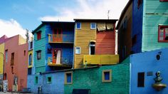 Argentina Buenos Aires La Boca. Located at the mouth of the Riachuelo River