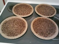 Home made pecan pies from Christmas 2012