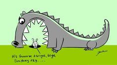 Sunshiny day cartoon