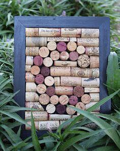 Monogram wine cork wall art. Perfect for wine lovers!