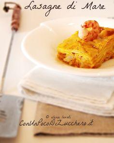 Lasagne di mare (alla zucca, con ragù di gamberi e salmone affumicato)