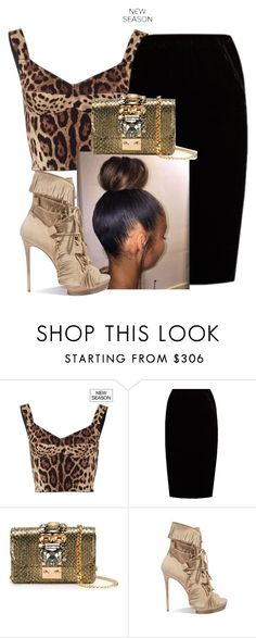 """""""Untitled #190"""" by trvp6xld ❤ liked on Polyvore featuring Dolce&Gabbana, Jupe By Jackie, GEDEBE and Casadei"""