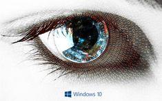Download wallpapers Windows 10, 4k, human eye, art creative, Microsoft