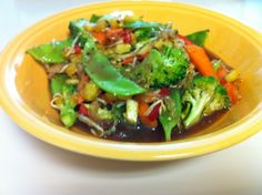 Raw Vegan Stir Fry. Tons of veggies!