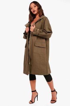 Sadie Premium Oversized Parka Raining Outside, Parka Coat, Long A Line, Boohoo, Military Jacket, Duster Coat, Size 10, Sadie, How To Wear