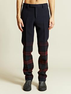 Lanvin Men's Two Tone Trousers | LN-CC needs a slimmer fit.