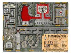 Necromancer's Crypt - quickie dungeon map