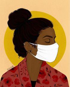 Art And Illustration, Portrait Illustration, Illustrations, Black Girl Art, Black Women Art, Art Girl, Arte Black, Frida Art, Black Art Painting