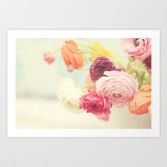 Ranunculus III Art Print by Kris Allbright Photography - $18.72