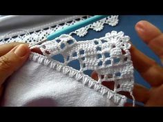 Crochet Lace Edging, Crochet Coat, Crochet Borders, Filet Crochet, Crochet Stitches, Crochet Baby, Blog Crochet, Crochet Videos, Handarbeit