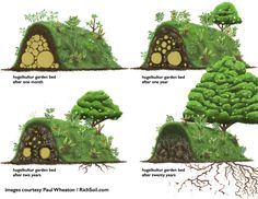A Raised Bed Like No Other! Behold The Ancient Permaculture Benefits of Hugelkultur Hugelkultur Raised Beds: An Ancient Technique That's Turning Gardeners' Heads - Live Love Fruit Building A Raised Garden, Raised Garden Beds, Raised Beds, Raised Gardens, Raised Planter, Organic Gardening, Gardening Tips, Vegetable Gardening, Herb Garden