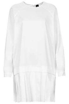 Pleat Hem Cotton Dress by Boutique - Boutique - Clothing