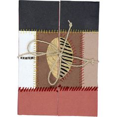 """Be-leaf in your dreams! Record your memories or jot down lists in this naturally attractive journal handmade by artisans from Prokritee (meaning """"nature"""" in Bangla) Bangladesh. Comes with a tie closure and innovative double flap opening system."""