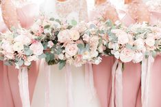 Pink Wedding Flower Bouquets for Bridal Party | By White Stag Wedding Photography | Bridal Bouquet | Wedding Flowers | Pink Flowers for Wedding | Pink Bouquet | Pink Bridesmaid Dresses | Pink Bouquet for Wedding | bridesmaid bouquets