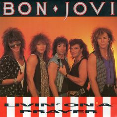 """""""Livin' on a Prayer"""" is Bon Jovi's second single from their Slippery When Wet album. Written by Jon Bon Jovi and Richie Sambora with Desmond Child, the single, released in late 1986, was well received at both rock and pop radio and its music video was given heavy rotation at MTV, giving the band their first #1 on the Hot Mainstream Rock Tracks chart. The single also became Bon Jovi's second consecutive #1 Billboard Hot 100 hit and has become the band's signature song."""