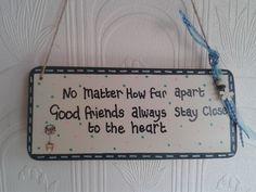 handmade friend Plaque