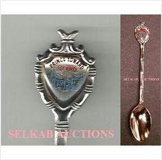 "Prince Edward Island Souvenir Teaspoon Crest Tea Spoon 4-11/16"" long on eBid Canada $8.00"