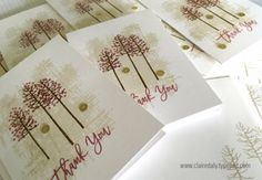 Stampin Up Thoughtful Branches quick and easy bulk thank you cards 2016 by…