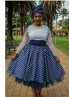 Traditional African clothing & shweshwe dresses All a babe needs is an commodity of Traditional African clothing with the appropriate Sotho Traditional Dresses, African Traditional Wedding Dress, African Fashion Traditional, South African Fashion, Traditional Outfits, Traditional Decor, Wedding Dresses South Africa, African Wedding Dress, African Print Dresses
