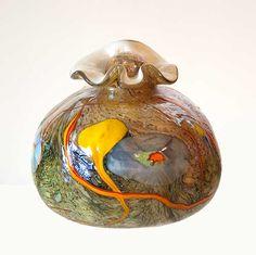Odyssey Art Glass Keepsake urn by Tom Michael - www.tommichael.com