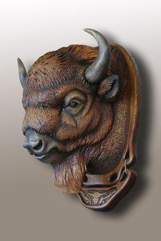 Animal Totems, Animal Sculptures, Wood Carving Art, Wood Art, Carosel Horse, Polymer Clay Sculptures, Environmental Art, Wildlife Art, Wood Sculpture