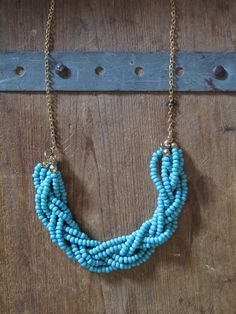 Eighteenth Century Agrarian Business: diy: Braided Bead Necklace