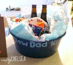 New daddy survival kit, everyone forgets that daddy needs a little extra love too.