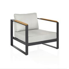 Contemporary and classic outdoor chair for comfortable seating.