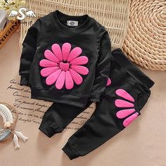 Cheap boys clothes set, Buy Quality children clothing set directly from China clothing sets Suppliers: 2018 New Spring Autumn Children Clothing Set Baby Girls Sports Suit Sunflower Casual Costume Boys Clothes Set Girls Tracksuit, Tracksuit Set, Baby Outfits, Kids Outfits, Casual Outfits, Baby Set, Pants Outfit, Outfit Sets, Fashion Kids
