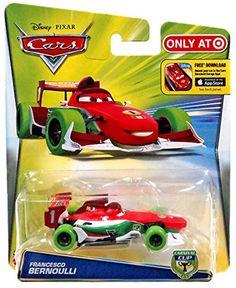 Disney Cars Carnival Cup Francesco Bernoulli Green Tires