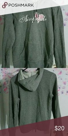 Gray hoodie Semi thick fabric, good for layering, will fit a preteen Aeropostale Tops Sweatshirts & Hoodies