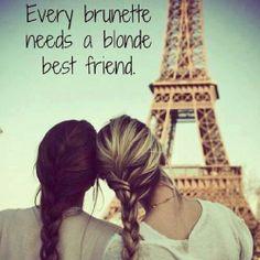 #blonde #brunette #paris